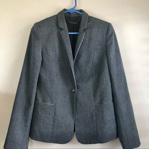 Elie Tahari Women's Tweed Texture Gray Blazer